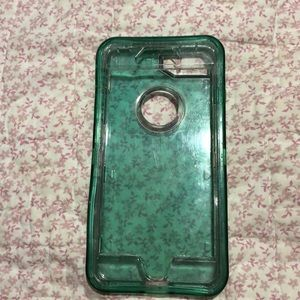 iPhone 8plus clear blue case